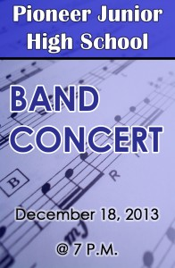 Pioneer Band 12-18-2013